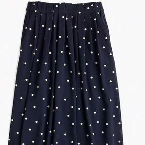 J. Crew Polka Dot Midi Skirt